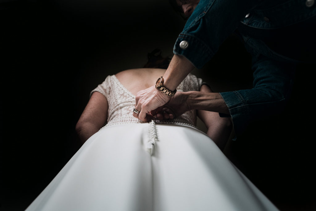 Fermeture de la robe Iseult cymbeline