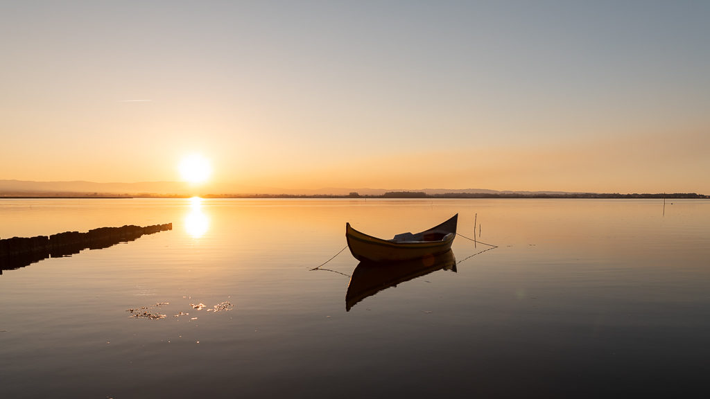 barque sur le fleuve Alveiro au Portugal