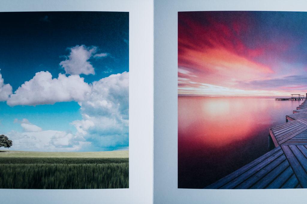 Rendu couleurs de deux photos dans des teintes différentes