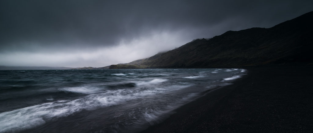 Black sand beach in iceland