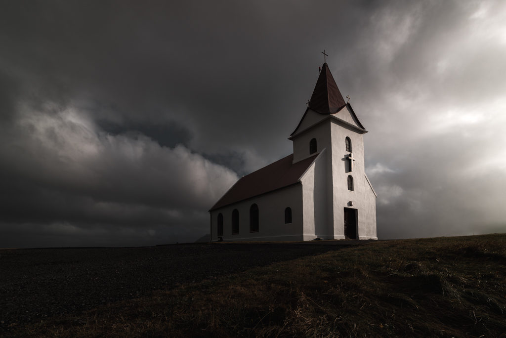 a concrete church in Iceland