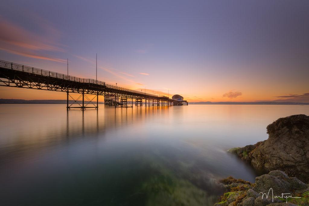 Ponton de Mumbles Pier au pays de galles