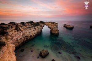 Photo arrivée 9eme dans un concours photo international : la côte au sud du portugal