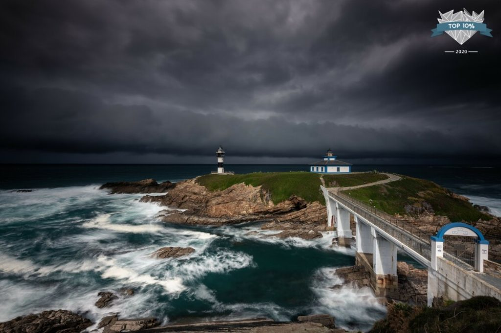 Phare et tempête en Espagne