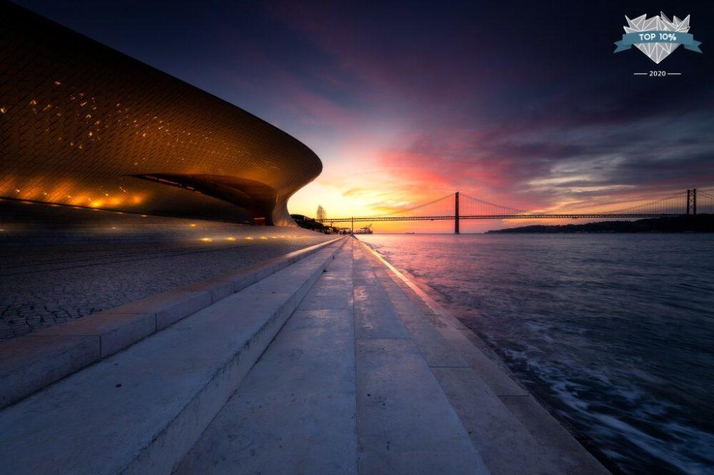 Lever de soleil à Lisbonne au Portugal