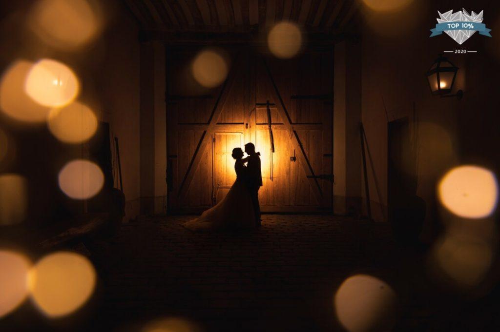 Photo de couple d'un mariage en France