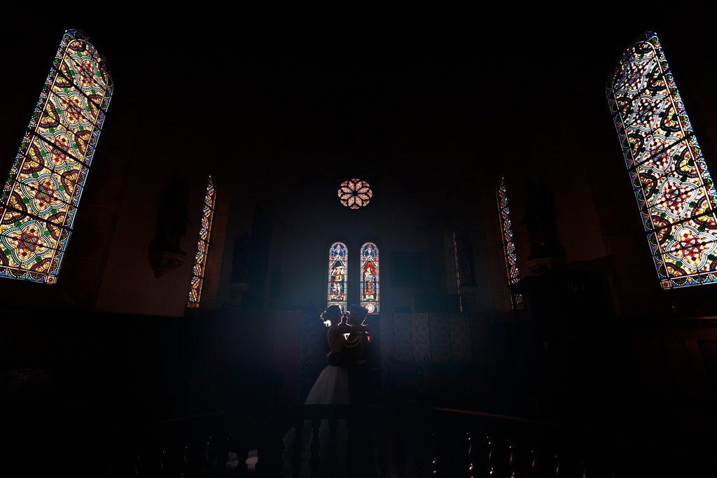 photo de mariage dans une chapelle