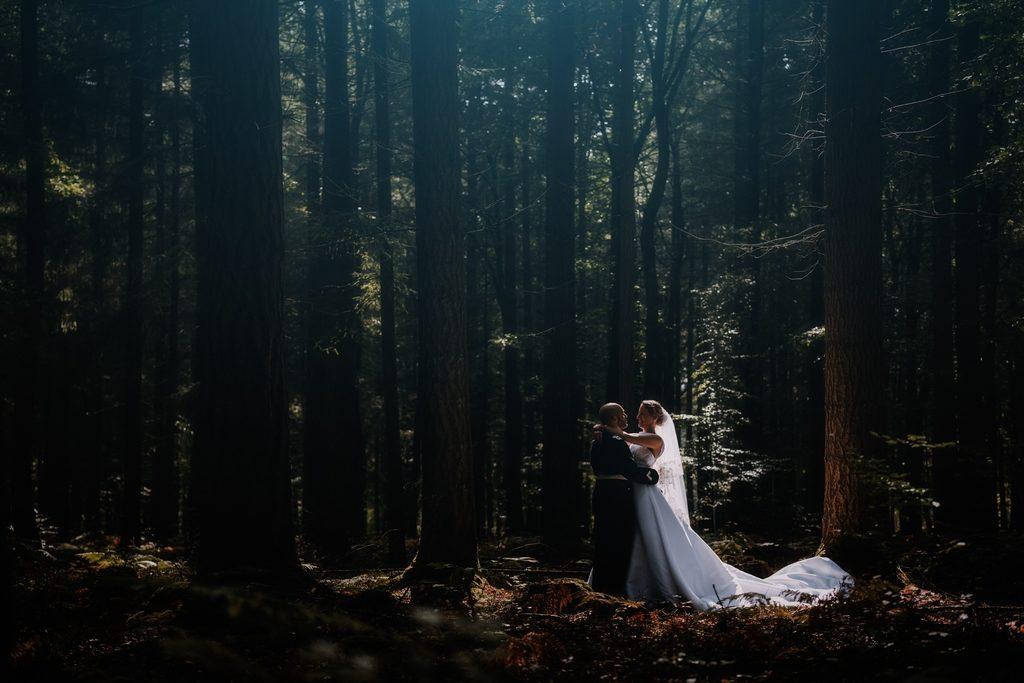 photo de mariage en foret