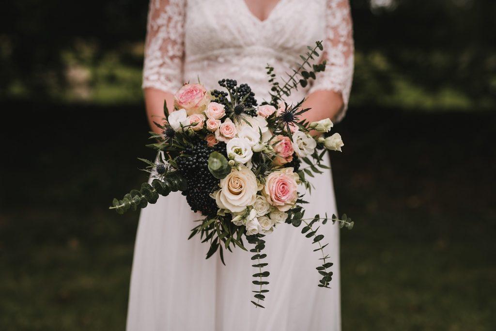 Le bouquet de la mariée, en format paysage