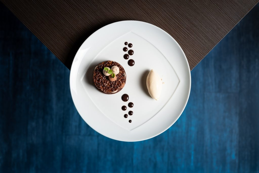 Photo culinaire d'un dessert du restaurant l'Espérance à Caen