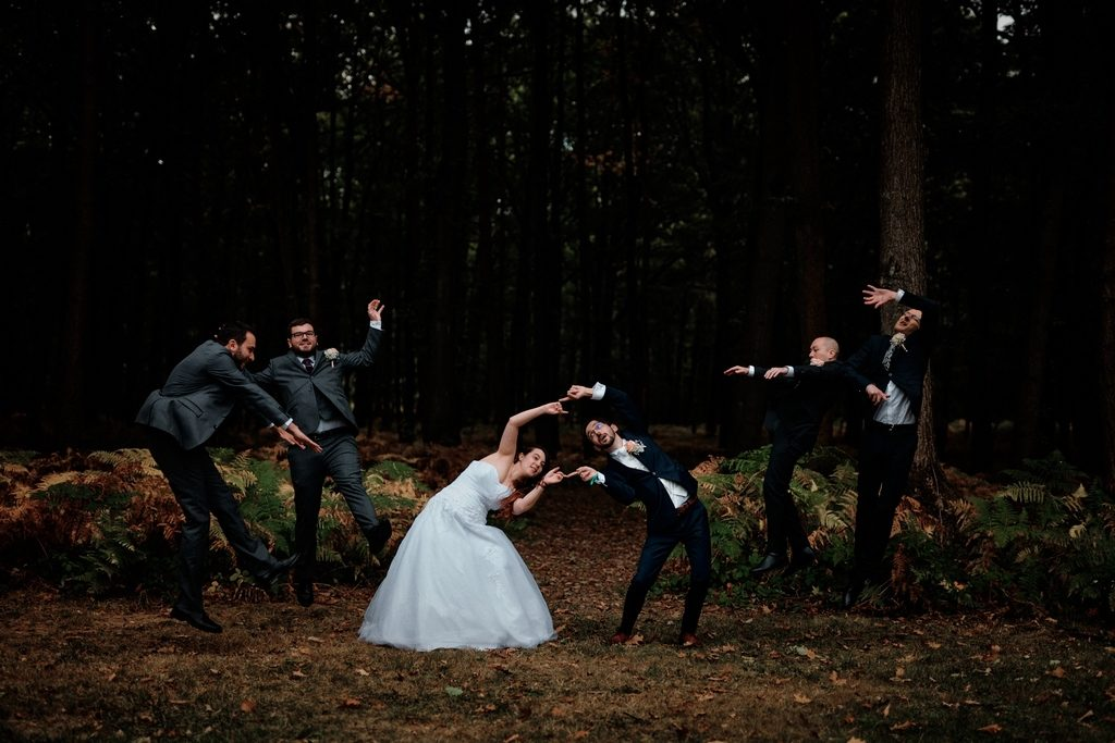 Photo de mariage geek : fusion DBZ