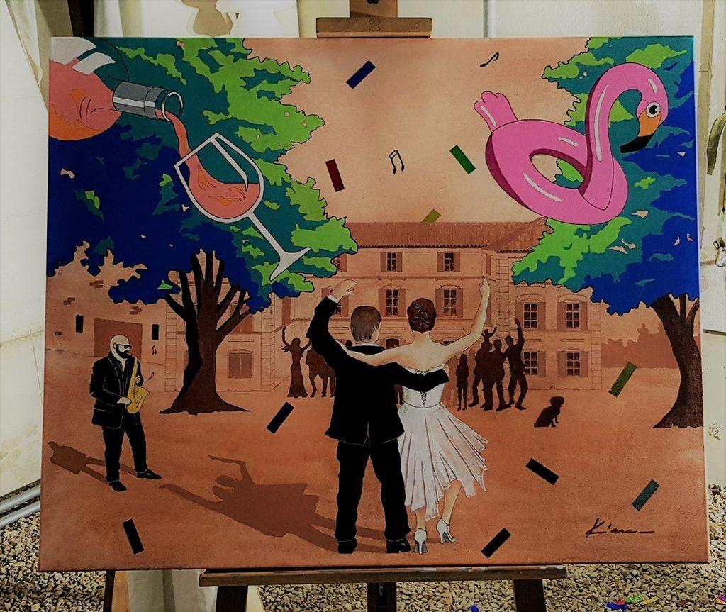 Résultat d'une peinture participative d'un mariage